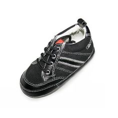Josmo Black Sneakers. Infant boys black lace up sneakers. See More Shoes at http://www.ourgreatshop.com/Shoes-C201.aspx