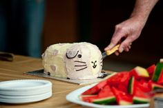 guinea pig cake. I feel like I should make this and bring it into work. Everyone would get a good laugh at it
