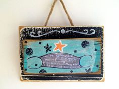 Motivational Quote on Reclaimed Wood Beach Sign by mangoseed