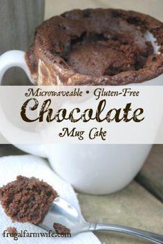 Gluten Free Chocolate Mug Cake made in the microwave!