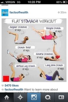 Flat Stomach Workout. Start Today And See Your Results In 2 Weeks!!