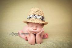 Newborn Fedora HatAloha FedoraSummerBaby by whimsylaneboutique, $28.00