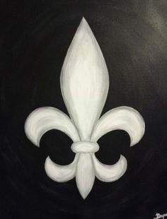 B Fleur de Lis on Canvas 16x20