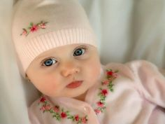 "You can see and find a picture of Cute Baby Girl Brown Eyes with the best image quality at ""Photography Pics"