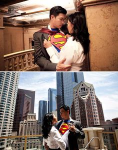 Engagement shoot: I kinda want to do this...ya know bc Ed loves Superman so much... >.>;
