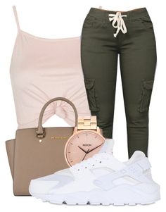 """Untitled #438"" by kenziesg ❤ liked on Polyvore featuring Topshop, MICHAEL Michael Kors, Nixon and NIKE"