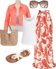 """beach ware"" by aaronjillthomas on Polyvore Love this. pool Tmm and will be warring something similar!"