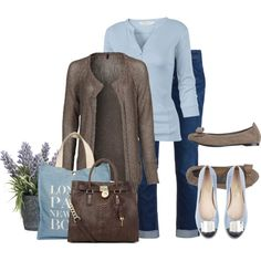 A fashion look from September 2012 featuring Benetton, v neck tee and straight jeans. Browse and shop related looks.