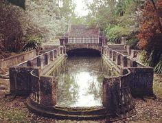 jardin romantico lago