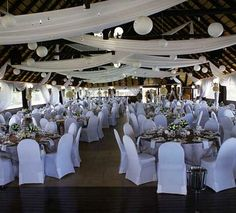 Wedding Hall Decoration Idea. (white and red)   Party Ideas ...