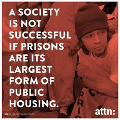 """It costs about 30,000 in taxpayer money to keep someone on the streets, it costs less than half that to house them. 7% of our population is in some part of our """"justice"""" system, the highest of any society. Ever."""