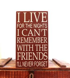 Wood sign  Friendship sign  I live for the by freelandfolkartsigns