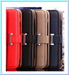 iPhone 6 Plus, 6, 5/5S - Chic Wallet Case With Emblem & Wrist Strap in Assorted Colors - Thumbnail 1