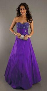Purple stunning gown