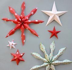 bricolage de Noël étoiles et flacons de neige