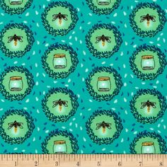 Michael Miller Wee Wander Flannel Glow Friends Sea from @fabricdotcom  Designed by Sarah Jane for Michael Miller, this double napped (brushed on both sides) flannel print fabric is perfect for quilting and apparel. Colors include turquoise, green, blue, mint, brown and yellow.