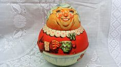 1981 Tin Mrs. Claus Roly Poly Tobacco Tin Bristol by EtagereLLC, $20.00
