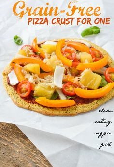 Grain-Free Pizza Crust - made with garbonzo bean flour.
