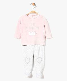 Pyjama 2 pièces en velours
