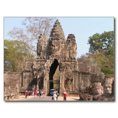 Postcard  Angkor Thom, Cambodia Carte Postale