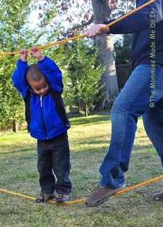 Build a rope bridge! I know we need one of these to get over the alligator pit in our back yard...