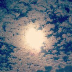 Love Sun clouds heart
