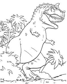 Dinosaur T-Rex Coloring Pages for Kids - Printable Kids Colouring Pages