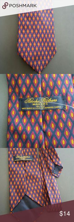 Brooks Brothers Men Tie 100% Silk  Great condition Brooks Brothers Accessories Ties