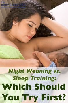 Night weaning and sleep training are both goals for tired parents who visit The Baby Sleep Site. But should you night wean first, or sleep train first? We explain.