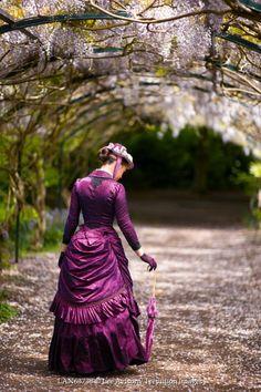 Lee Avison HISTORICAL WOMAN UNDER ARCH OF FLOWERS Women