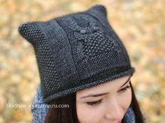 Mahi Karpinar shared a video Baby Hats Knitting, Knitted Hats, Knit Crochet, Crochet Hats, Cat Hat, Winter Hats, Women, Beanies, Owls
