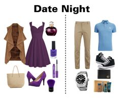 """""""Date Night"""" by novascotias4ever ❤ liked on Polyvore featuring Dorothy Perkins, Target, Nine West, New Look, NYX, BHCosmetics, Superdry, Lacoste, Converse and Akribos XXIV"""