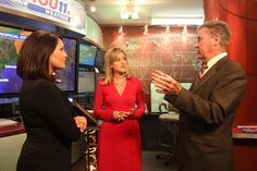 Discussing Hurricane Isaac in the KHOU 11 News Weather Center