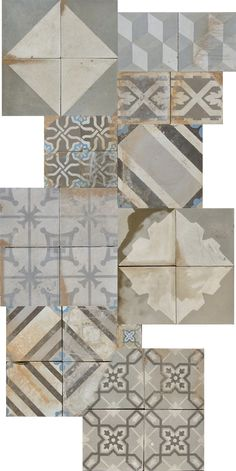 Cement tile ~ salvaged