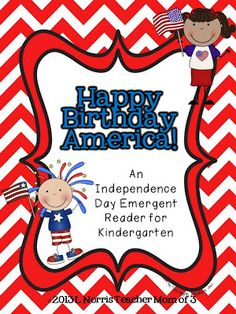 Teacher Mom of 3: 4th of July Emergent Reader- FREEBIE!