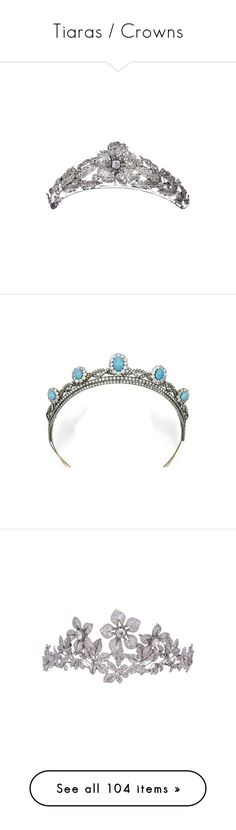 """""""Tiaras / Crowns"""" by theprissydiary ❤ liked on Polyvore featuring accessories, hair accessories, tiara, crowns, jewelry, flower crown, flower tiara, flower hair accessories, tiara crown and crown tiara"""