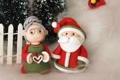 Santa Claus and Mrs. Claus Polymer Clay Santa Clay от GnomeWoods