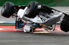 Felipe Massa crash during the start of the 2014 German Grand Prix.