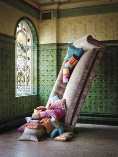 Kallianthi by Clarissa Hulse for Harlequin. Like the mix of tiles & pile fabrics/velvet.