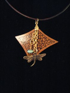 Gourd Dragonfly Necklace by Gourdy2Shoes on Etsy, $20.00