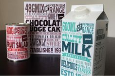 Pams Premium Range Packaging by Raewyn Brandon Label Design, Box Design, Branding Design, Package Design, Print Design, Typographic Hierarchy, Milk Packaging, Dairy Packaging, Vintage Fonts