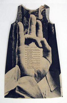 Poster Dress 'Ginzburg' by Harry Gordon, 1968. Via metmuseum.org