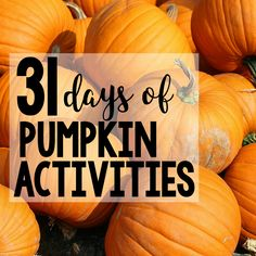 Join us for 31 Days of Pumpkin Activities this October- our activities are perfect for toddlers, preschoolers, and early elementary ages.