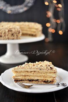 Tort miodowy z masą chałwową Tiramisu, Cake Decorating, French Toast, Food Porn, Food And Drink, Birthday Cake, Cooking Recipes, Sweets, Snacks