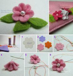 fiore semplice in feltro
