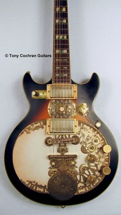 Tony Cochran Gold Medallion guitar body front Picture