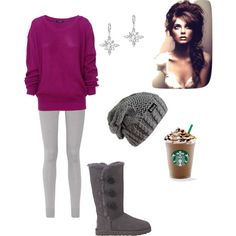 Winter outfit, created by haydenmaxon on Polyvore