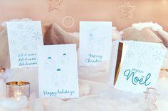 Lake Country Okanagan Christmas - Snowflake Holiday Card Set
