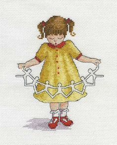 Dolly Chain - All Our Yesterdays Cross Stitch Kit By Faye Whittaker