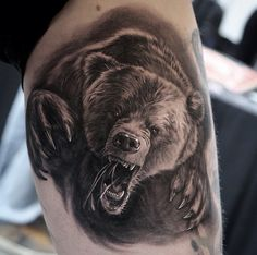 Awesome #bear tattoo by @stefanoalcantara! Done at @cph.itc.